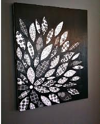 DIY Canvas Flower