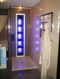 A Tanning Bed Built into The Shower Room