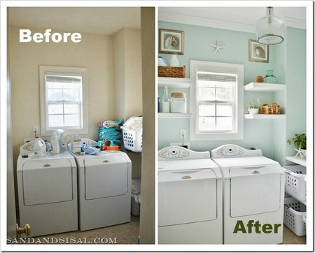Before and After Laundry Room Love the Change