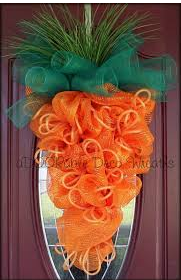 Carrot Easter Wreath by aDOORable Deco Wreaths on Etsy
