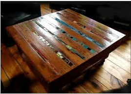 DIY Pallet Table with Artsy-Smartsy Inserts