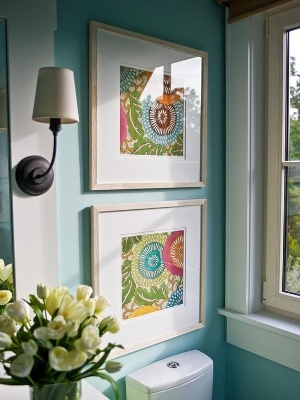 Framed Fabric Art Using Colorful Carpet