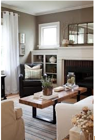 Living Room with Benjamin Moore Coastal Fog