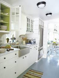 Love the Pop of Color in the Cabinets