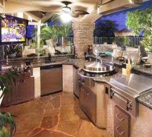 Outdoor Indoor Beachfront Kitchen