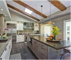 Stainless Steel Appliances and Wood Finishes in the Kitchen