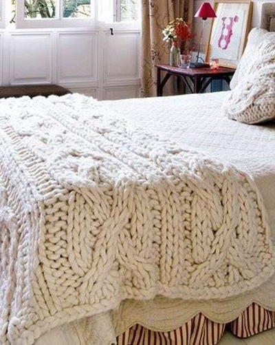 Quick To Knit Chunky Blanket Knitting Pattern I Love Decoration