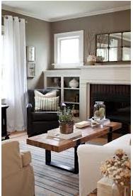Living Room With Benjamin Moore Coastal Fog